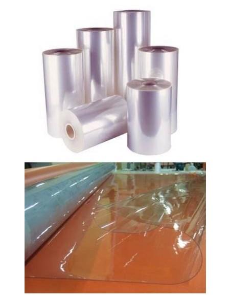 Nappe plastique souple transparent 50/100 non feu M2 Au mètre et également par rouleau complet de 50ml