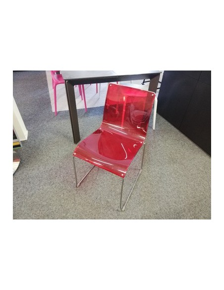 Déstockage Chaise Irony CS/97P rouge