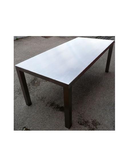 Déstockage Table de repas acier inox AISI 304 massif inoxydable
