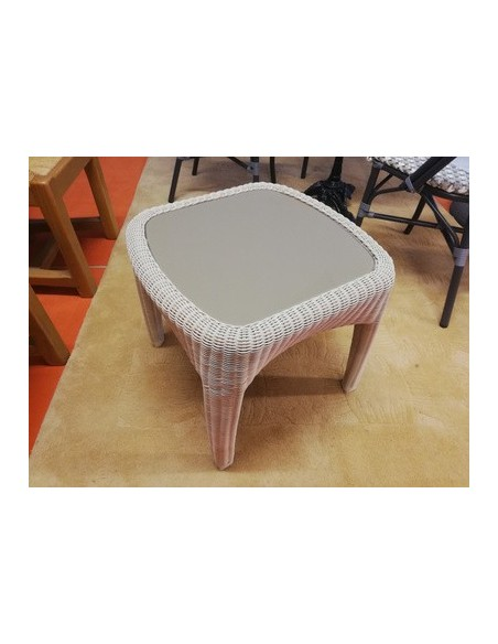 Déstockage Table basse Tiara 50x50 vanille