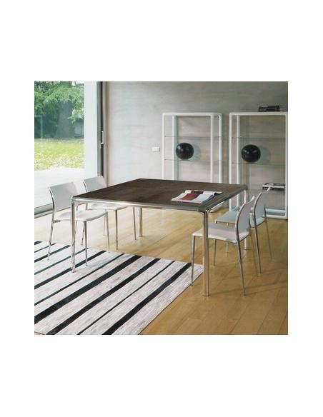 Table céramique carrée Flu 80x80