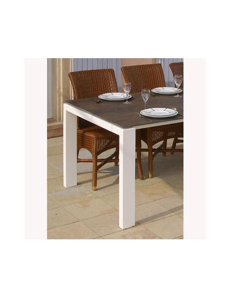 Table fixe carré céramique 591 Class 120x120 h 74 cm dexo
