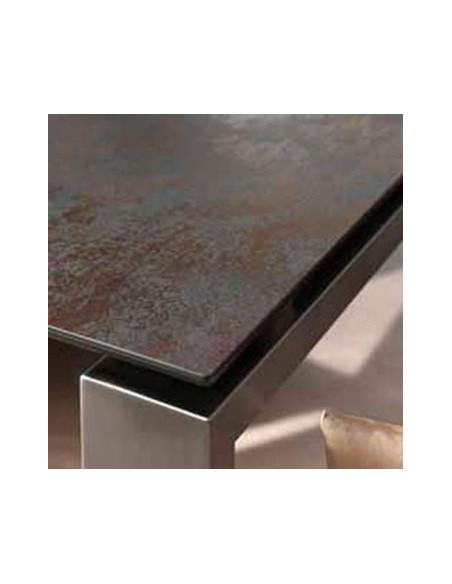 Table fixe carré céramique 593 Class 160x160 h 74 cm dexo