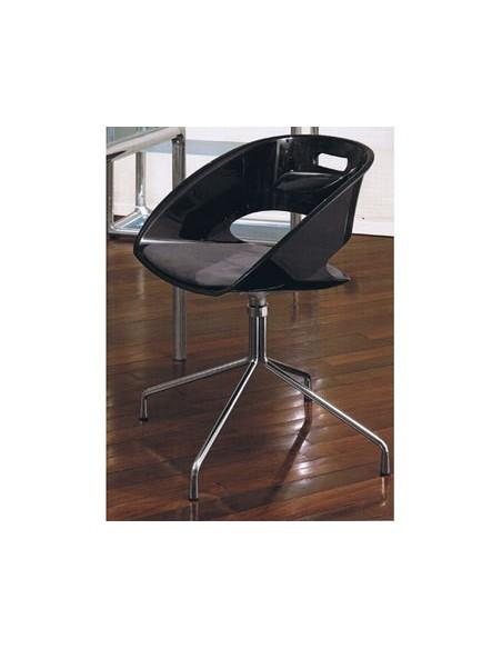 Chaise Ola noire pivotante avec coussin Dexo