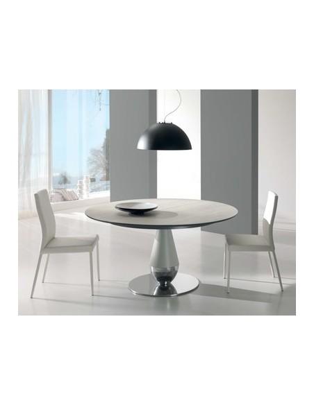 Table de repas fixe en céramique Perla diamètre 125 cm