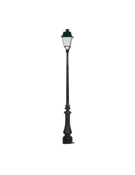 Lampadaire Cottage + lanterne Beauregard D Noir