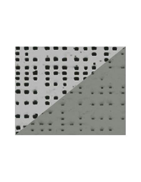 Textile micro-aéré pour protection solaire Soltis 92 aluminium/gris M1