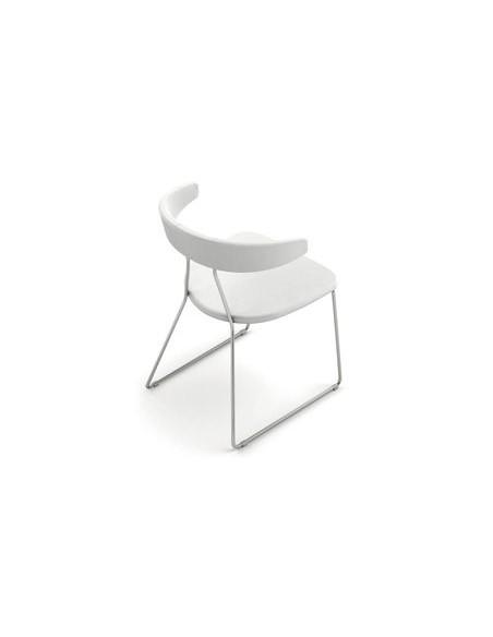 Chaise Flack blanche