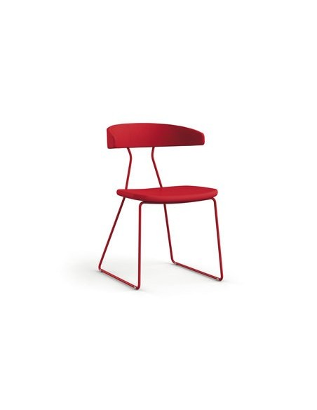 Chaise Flack rouge