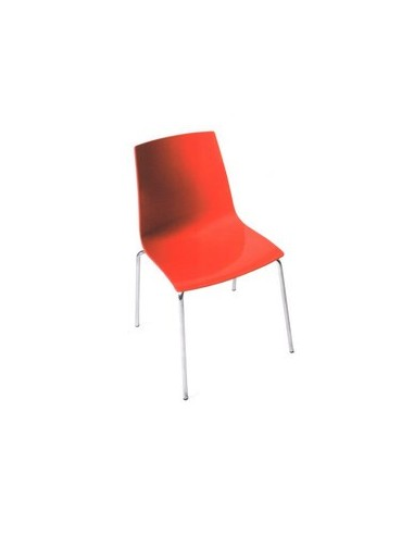 Chaise Metro rouge