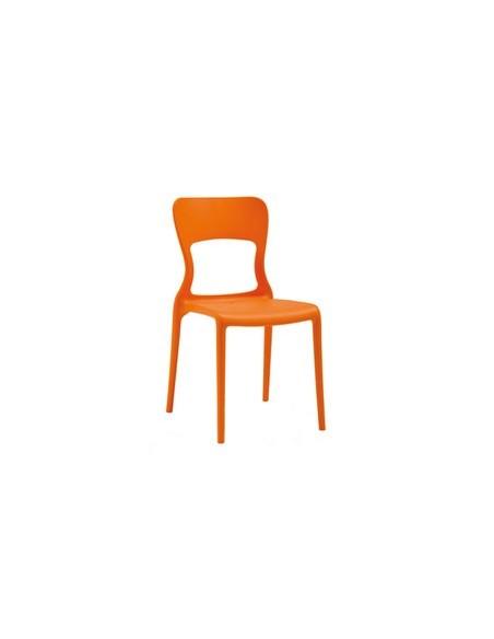 Chaise Nelia orange