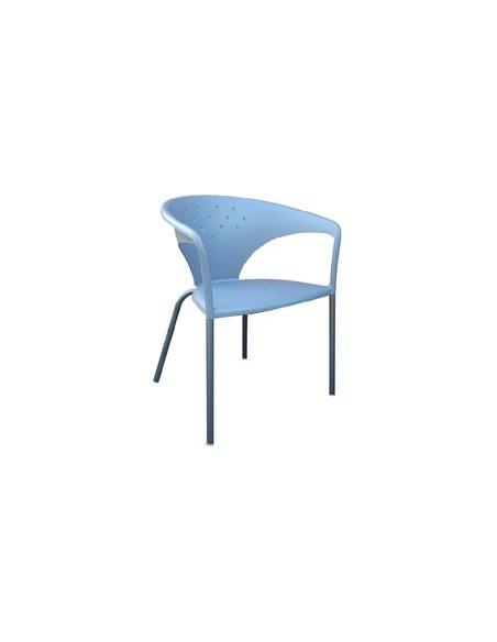 Chaise Terra bleue