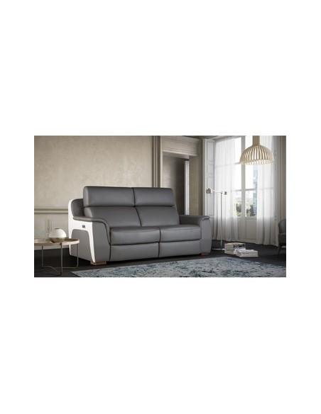 Canapé 4 places relax électrique Nice Nobuck