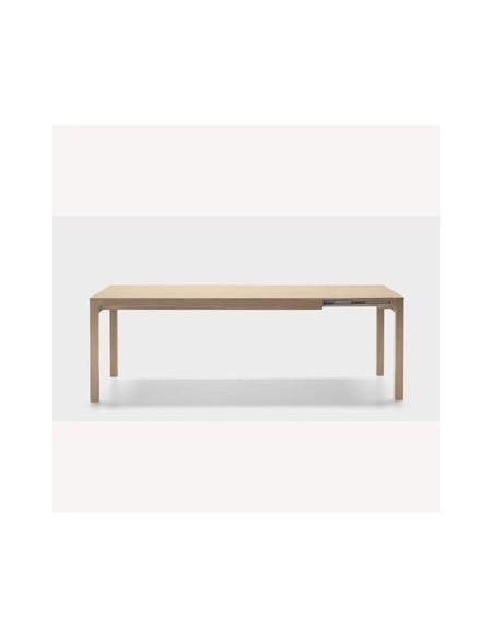Table rectangulaire Laia 180 cm avec allonge de 50 cm