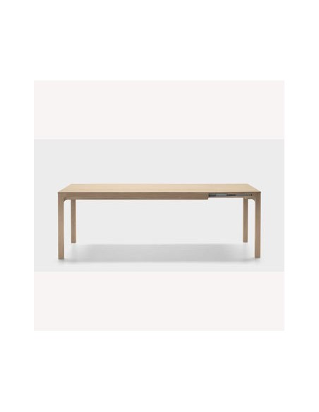 Table rectangulaire Laia 140 cm avec allonge de 50 cm