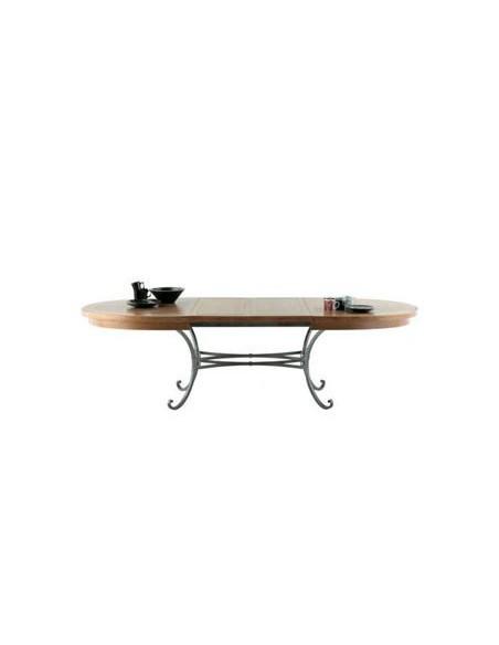Table ovale Biarritz plateau chêne