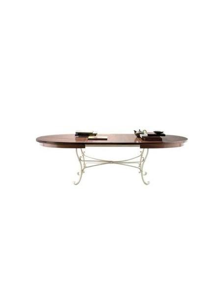 Table ovale Biarritz plateau merisier noyer