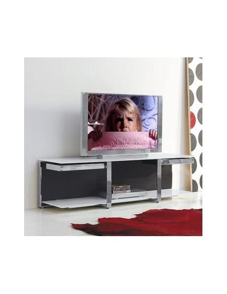 Meuble télé Vision chêne finition gris