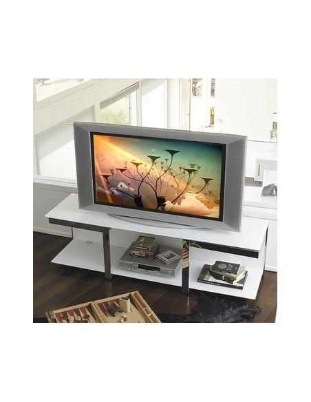 Meuble télé Vision laqué blanc mat