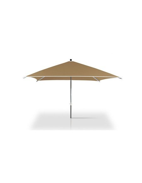 Parasol Cortina 300 x 300 cm, structure anodisé, habillage toile teint masse