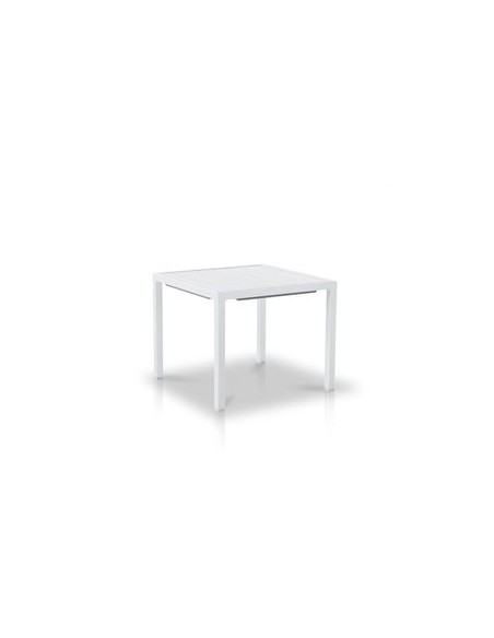 Table basse 45x45 cm Neptune, structure blanc