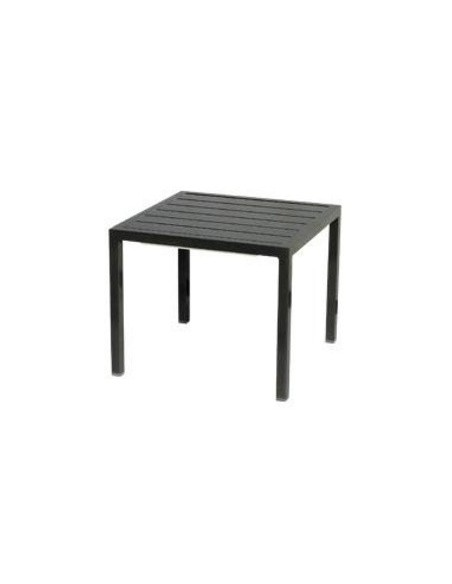 Table basse 45x45 cm Neptune, structure anthracite