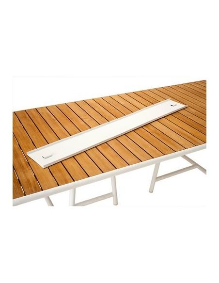 Pièce de liaison pour table de repas 220x100cm Pilotis, structure blanc