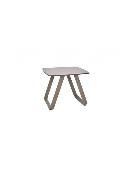 Table basse 45 x 45 cm Marieta, structure taupe