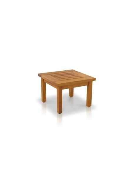 Table basse 50 x 50 cm Biarritz, structure teck huilé