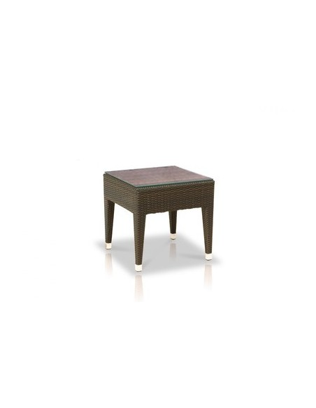 Table basse 46 x 46 cm Havana, structure coffee