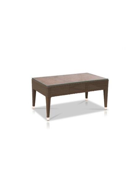 Table basse 92 x 54 cm Havana, structure coffee