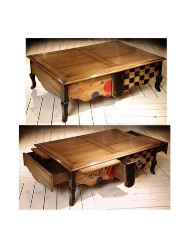 Table basse 3 tiroirs 4 tablettes...
