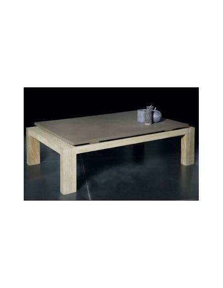 Table basse chêne et béton réf. 991