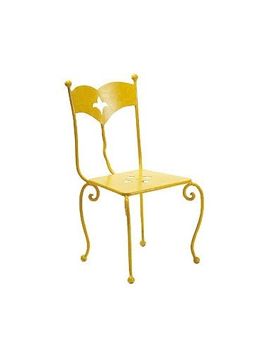 Chaise fer forgé cyclade