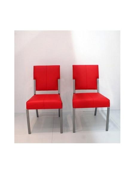 Chaise à piétement inox mat Karat