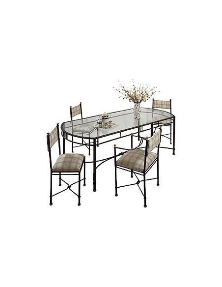 Table barette rectangulaire, Ligne Métal