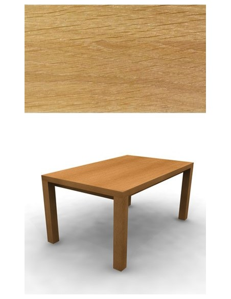 Table de repas Chêne 160 cm 2 allonges de 40 cm
