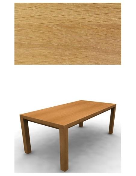 Table de repas Chêne 200 cm 2 allonges de 40 cm