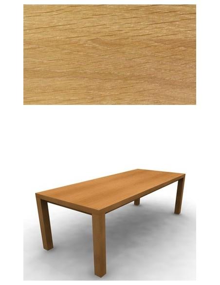 Table de repas Chêne 240 cm 2 allonges de 40 cm