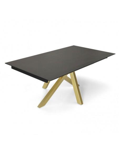 Table fixe contemporaine MOON avec plateau en céramique Dekton