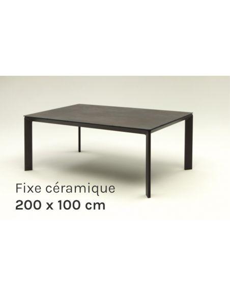 Table de repas fixe en céramique Class 200x100cm