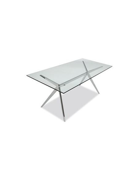 Table rectangulaire en verre et en métal Seven CB4042-RC 160 G