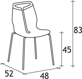 Dimensions Chaise Gripp 220 Dexo