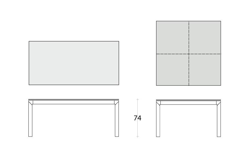 Dimensions Table fixe Class Dexo